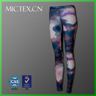polyester spandex heat transfer printing pants for women