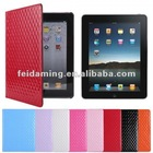 3D Diamond Pattern Design PU Leather Protective Flip Smart Case Cover for iPad 3