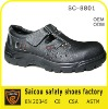 Buffalo leather no lace safety shoes factory (SC-8801)