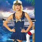 Sexy Navy costume fancy dress with hat match CT0002