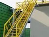 Fiberglass Platfom Diagonal Ladder