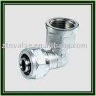 Pex-al- pex pipe adapter--brass elbow(ZTN-0106)