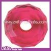 Bulk fancy Round shape twisted pink Plastic Glass Sew on Acrylic rhinestone beads Hollow