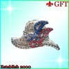 Beautiful Hat Badge button GFT-H061