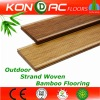 carbonized hand scraped strand woven outdoor bamboo flooring