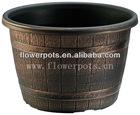 Antique brass planter pots