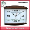 35x38cm High quality seiko movement wood wall clock for sale