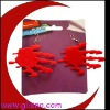 PVC blood hand halloween earring