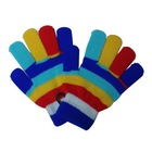 100% acrylic children knitted fashion magic glove with colorful stripes