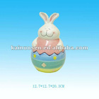 "5"" easter candy jar bunny rabbit ceramic"