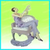 Sitting victoria lady resin figurine