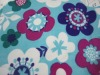 100% polyester big broken flower polar fleece fabric
