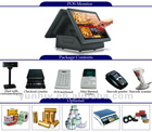 "15"" D150T Double touch screen touch pos terminal"