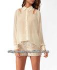 2013fashion(LN014TO)High-Low Studded Cutout Shirt