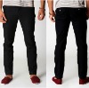 mens black linen trousers