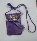 silk brocade mobile phone pouch