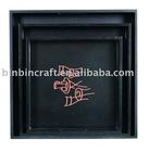 Black Bin-0095L-M-S Wooden tray
