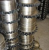 Roller chain sprocket coupling without outer case