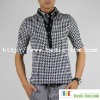 Men's Short Sleeve Hound Tooth Check T-Shirt