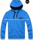 Men's fashion long sleeve solid colour high quality pullover polar fleece hoody