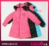 girls down jacket with romovable hood