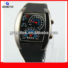 RPM Turbo Blue Flash LED Watch Circle Watch Cool Men Watches