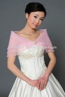 Hot Sale Elgeant Designer Light Pink 3 layers Thin Pageant Party Shrug for Lady