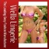 Hot Selling Brazilian Metallic Bandeau Top Strappy Bikinis