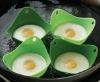 Silicone And Natural Egg-boiler/Egg Tray/Nontoxic And High Temperature Resistant Egg Cooker/Fashion Egg Poacher