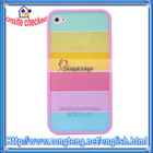 New !! Rainbow Back Cover for iPhone 4 4S Pink Side