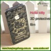 Hello kitty 3D PET protective film for iphone 4 4s