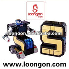 Loongon digit robot No. 5 swiching between robot and 5 with sound and light transformer robot