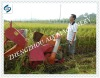 Gasoline engine drive wheat combine harvester machine