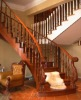 Solid wood arc staircase