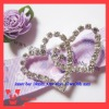 heart shape rhinestone buckle for invitation card