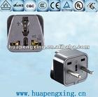 2 Round Ping Black pPastic Wall Plug