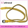 Yellow lady's braided wax rope belt