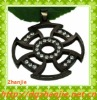 Diamond New design black hollow cheap cross pendants