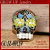 custom cheap fashion vintage skull rings for women