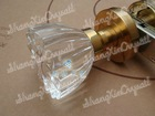 crystal glass / antique brass complete passage knob set