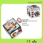 360 degrees Plastic Rotating Photo Cube for home & office decoration