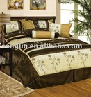 7Pcs Embroidery comforter set