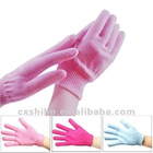taiwan natural organic whitening skin care product, gel moisturizing gloves/spa gel glove