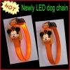 Orange mouse logo LED dog collar online saling
