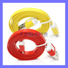Colored Flat Cord Cable For iPhone 5 Flat 8 Pin Cable