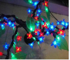outdoor green metal lighted christmas trees cherry blossom