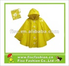 KRP021 Pocket Breathable Yellow Rain Poncho