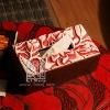 Q056-80.36Antique Cape Jasmine Flower Wooden Tissue Box