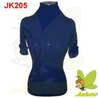 2012 New design Hotsale prints of flowers and beading casual short sleeve for Autumn and Winter Ladies Sweater JK205