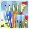 cheap plastic handle kids art paint brush